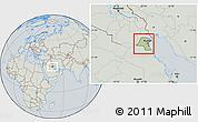 Savanna Style Location Map of Kuwait, lighten, semi-desaturated