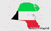 Flag Map of Kuwait