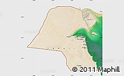 Satellite Map of Kuwait, single color outside