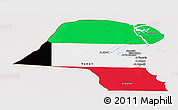 Flag Panoramic Map of Kuwait