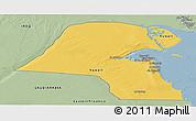 Savanna Style Panoramic Map of Kuwait