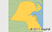 Savanna Style Simple Map of Kuwait