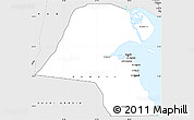 Silver Style Simple Map of Kuwait