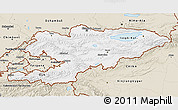 Classic Style 3D Map of Kyrgyzstan