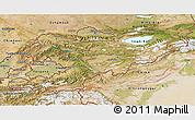 Satellite 3D Map of Kyrgyzstan