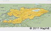 Savanna Style 3D Map of Kyrgyzstan
