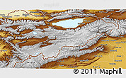 Physical 3D Map of Issyk-Kul