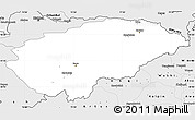 Silver Style Simple Map of Issyk-Kul