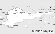 Silver Style Simple Map of Kirghizistan Territories