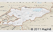 Classic Style Map of Kyrgyzstan