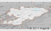 Gray Map of Kyrgyzstan