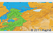Political Map of Kyrgyzstan