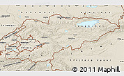 Shaded Relief Map of Kyrgyzstan