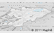 Silver Style Map of Kyrgyzstan