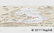 Classic Style Panoramic Map of Osh