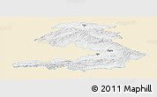 Classic Style Panoramic Map of Osh, single color outside