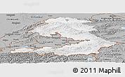 Gray Panoramic Map of Osh
