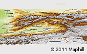 Physical Panoramic Map of Osh