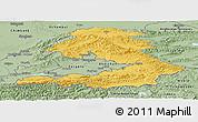 Savanna Style Panoramic Map of Osh