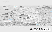 Silver Style Panoramic Map of Osh