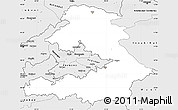 Silver Style Simple Map of Osh