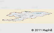 Classic Style Panoramic Map of Kyrgyzstan, single color outside