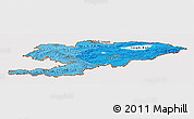 Political Shades Panoramic Map of Kyrgyzstan, cropped outside