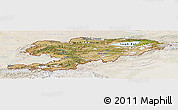 Satellite Panoramic Map of Kyrgyzstan, lighten