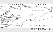 Blank Simple Map of Kyrgyzstan