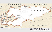 Classic Style Simple Map of Kyrgyzstan