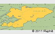 Savanna Style Simple Map of Kyrgyzstan