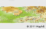 Physical Panoramic Map of Attopu