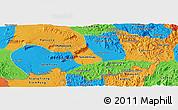 Political Panoramic Map of Attopu