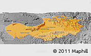 Political Shades Panoramic Map of Attopu, desaturated