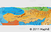 Political Shades Panoramic Map of Attopu