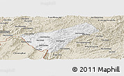 Classic Style Panoramic Map of Houay Xay