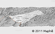 Gray Panoramic Map of Houay Xay
