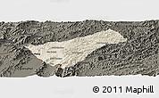 Shaded Relief Panoramic Map of Houay Xay, darken