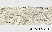 Shaded Relief Panoramic Map of Houay Xay