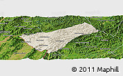 Shaded Relief Panoramic Map of Houay Xay, satellite outside