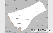 Gray Simple Map of Houay Xay