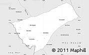 Silver Style Simple Map of Houay Xay