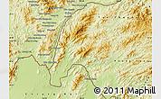 Physical Map of Meung