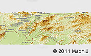 Physical Panoramic Map of Meung