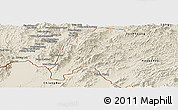 Shaded Relief Panoramic Map of Meung