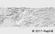 Silver Style Panoramic Map of Meung
