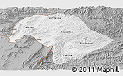 Gray Panoramic Map of Bokeo