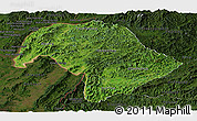 Satellite Panoramic Map of Bokeo, darken