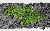 Satellite Panoramic Map of Bokeo, desaturated