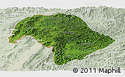 Satellite Panoramic Map of Bokeo, lighten